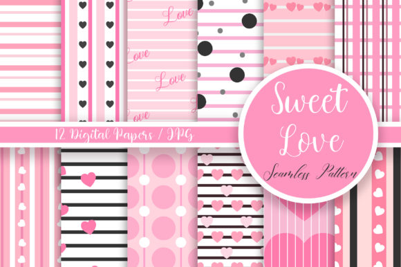 Sweet Love Seamless Pattern Graphic Patterns By PinkPearly