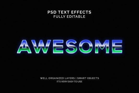 Text Effect - Awesome 3d Text Effect Graphic Graphic Templates By VectorRiver