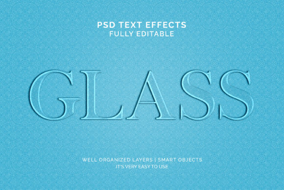 Text Effect - Glass 3d Style Text Effect Graphic Graphic Templates By VectorRiver