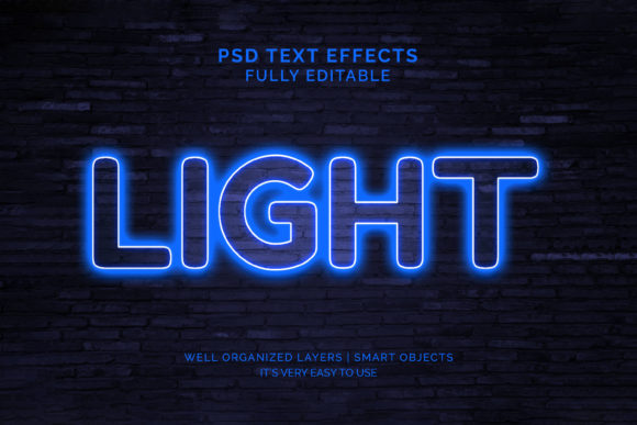Text Effect - Neon Light Text Effect Graphic Graphic Templates By VectorRiver