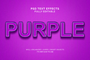 Text Effect - Purple Color Text Effect Graphic Graphic Templates By VectorRiver