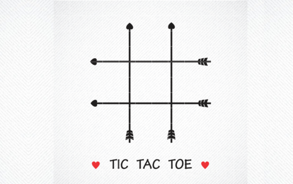 Print on Demand: Tic Tac Toe Bag Valentine Day Party SVG Graphic Crafts By SVG DEN