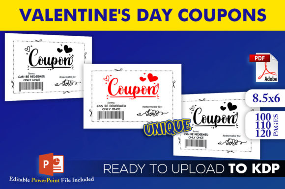 Print on Demand: Valentine's Day Coupon Book KDP Interior Graphic KDP Interiors By Beast Designer