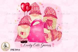 Print on Demand: Valentine's Day Family Gnomes Design Graphic Illustrations By Suda Digital Art