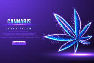 Print on Demand: Cannabis, Hemp, Low Poly Wireframe Mesh Graphic Backgrounds By WANGSINAWANG