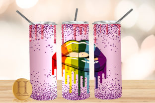 Print on Demand: Free Rainbow Lips Valentine Tumbler Graphic Crafts By Heba Morsy