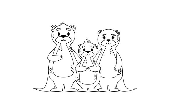 Otter Family Cut File Download