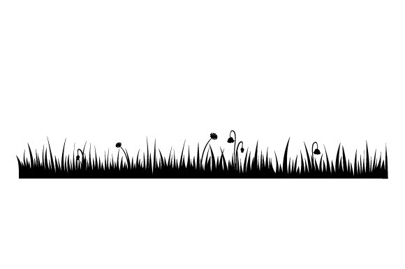 Grass Silhouette Nature & Outdoors Craft Cut File By Creative Fabrica Crafts