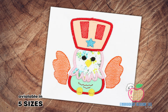 4th of July Eagle Applique Pattern Independence Day Embroidery Design By embroiderydesigns101