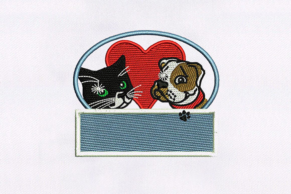 Adorable Cat and Dog Animals Embroidery Design By DigitEMB