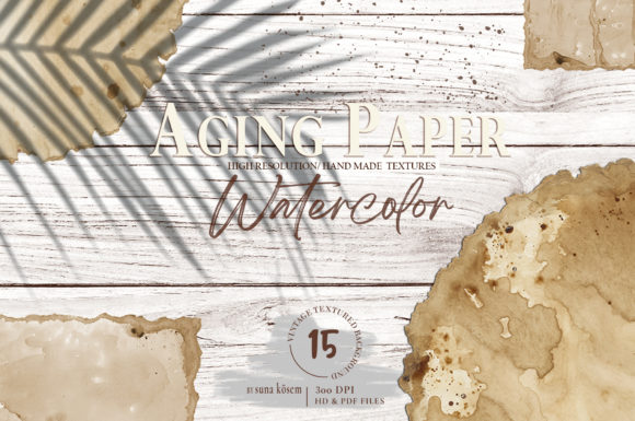 Aging Paper Graphic Backgrounds By suna__kosem
