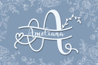 Print on Demand: Ameliana Monogram Decorative Font By niyos.studio