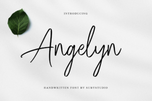 Print on Demand: Angelyn Script & Handwritten Font By Suby Studio