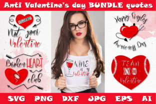 Print on Demand: Anti Valentine Bundle SVG DXF Cut Files Graphic Crafts By Citrum Nobile
