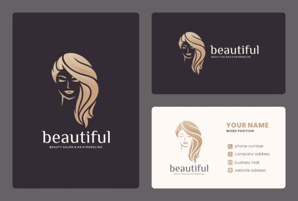 Beauty Women Logo with Business Card. Graphic Logos By masyoi12