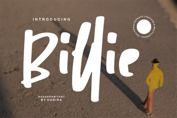 Print on Demand: Billie Display Font By Vunira