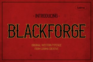 Print on Demand: Blackforge Serif Font By Luxima Creative