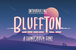 Print on Demand: Bluffton Display Font By TypeFactory