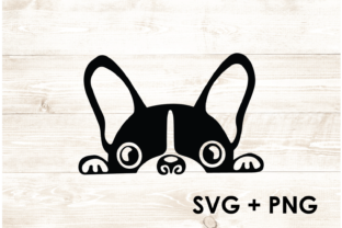 Print on Demand: Boston Terrier Cute Dog Paw - SVG Graphic Print Templates By Too Sweet Inc