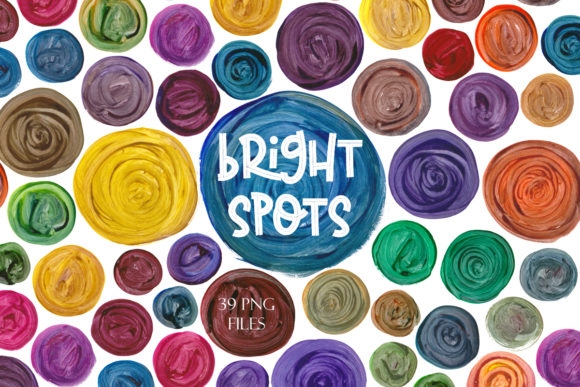 Print on Demand: Bright Spots Watercolor Clipart Graphic Illustrations By TanyaPrintDesign