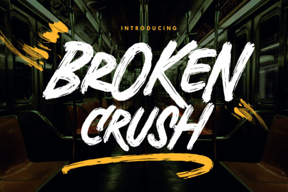 Print on Demand: Broken Crush Display Font By Arterfak Project