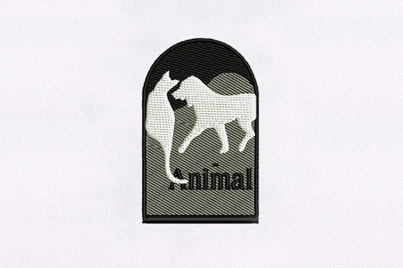 Calm Cat & Dog Design Animals Embroidery Design By DigitEMB