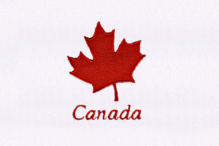 Canadian Maple Leaf Design North America Embroidery Design By DigitEMB