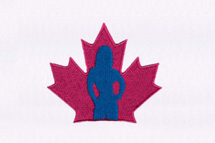 Canadian Woman Design North America Embroidery Design By DigitEMB