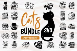 Cats SVG Bundle Quotes Lettering