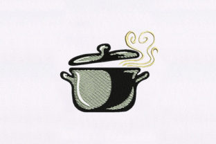 Cookware Kitchen & Cooking Embroidery Design By DigitEMB