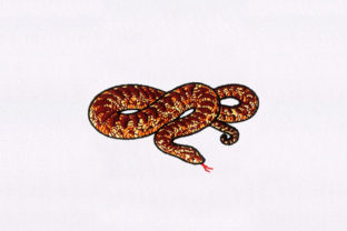 Corn Snake Reptiles Embroidery Design By DigitEMB