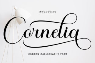 Print on Demand: Cornelia Script & Handwritten Font By Ws Studio