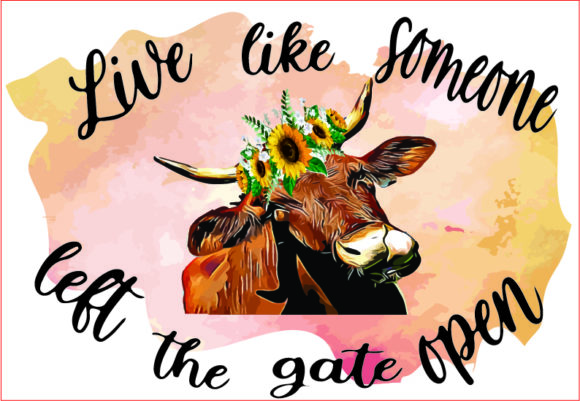 Cow Floral, Quote, Cow Head,sublimation Graphic Graphic Templates By AlaBala