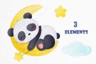 Print on Demand: Cute Baby Panda Clipart Graphic Graphic Illustrations By DrawStudio1988 2