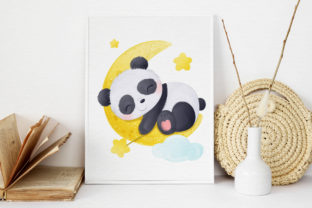 Print on Demand: Cute Baby Panda Clipart Graphic Graphic Illustrations By DrawStudio1988 3