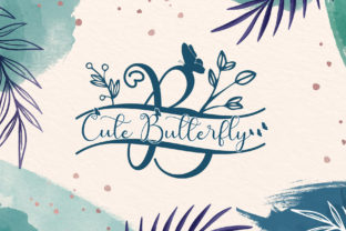 Print on Demand: Cute Butterfly Monogram Decorative Font By AEN Creative Studio