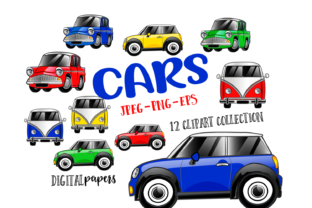 Print on Demand: Cute Cars Graphic Illustrations By DigitalPapers