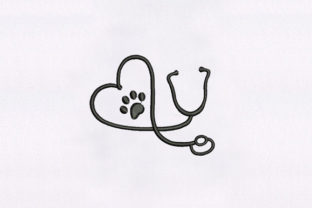 Doctor Stethoscope Dogs Embroidery Design By DigitEMB