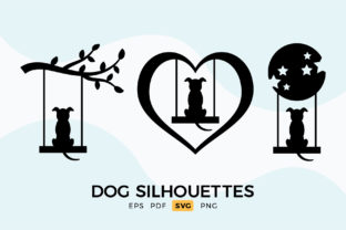 Print on Demand: Dog Silhouettes - Dog SVG Clipart Graphic Crafts By DTCreativeLab