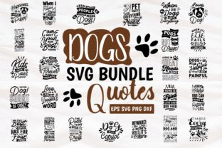 Print on Demand: Dogs Bundle Quotes Lettering Graphic Print Templates By Universtock