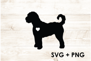 Print on Demand: Doodle Dog Silhouette Shape Outline SVG Graphic Print Templates By Too Sweet Inc