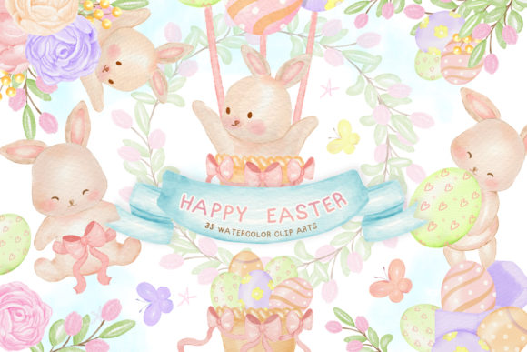 Easter Clipart, Easter Illustration Graphic Illustrations By Hippogifts