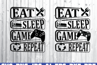Print on Demand: Eat Sleep Game Repeat Graphic Illustrations By Sofiamastery