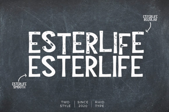Print on Demand: Esterlife Display Font By RHIDTYPE
