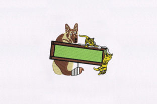 Friendly Cat and Dog Animals Embroidery Design By DigitEMB