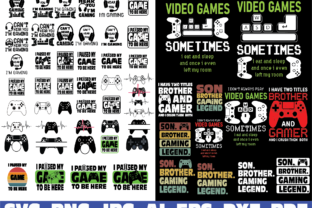 Print on Demand: Gamer, Video Game Bundle Graphic Illustrations By Sofiamastery