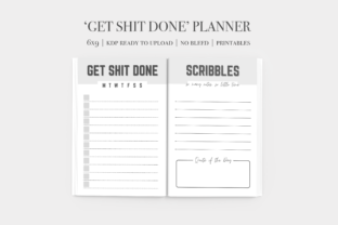 'Get S*it Done' Planner Graphic KDP Interiors By Purple Petal Printables