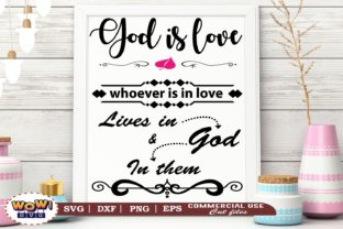 Print on Demand: God is Love Svg, Jesus Svg, God Svg Graphic Illustrations By Wowsvgstudio