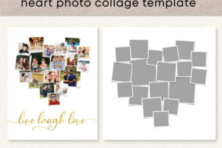 Heart Photo Collage Template Graphic Print Templates By Emma Doan Design