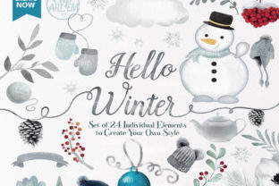 Print on Demand: Hello Winter Theme Clip Art Planner Graphic Illustrations By clipArtem